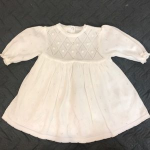 Baby Dove 100%cotton sweater dress EUC 6-12 mos